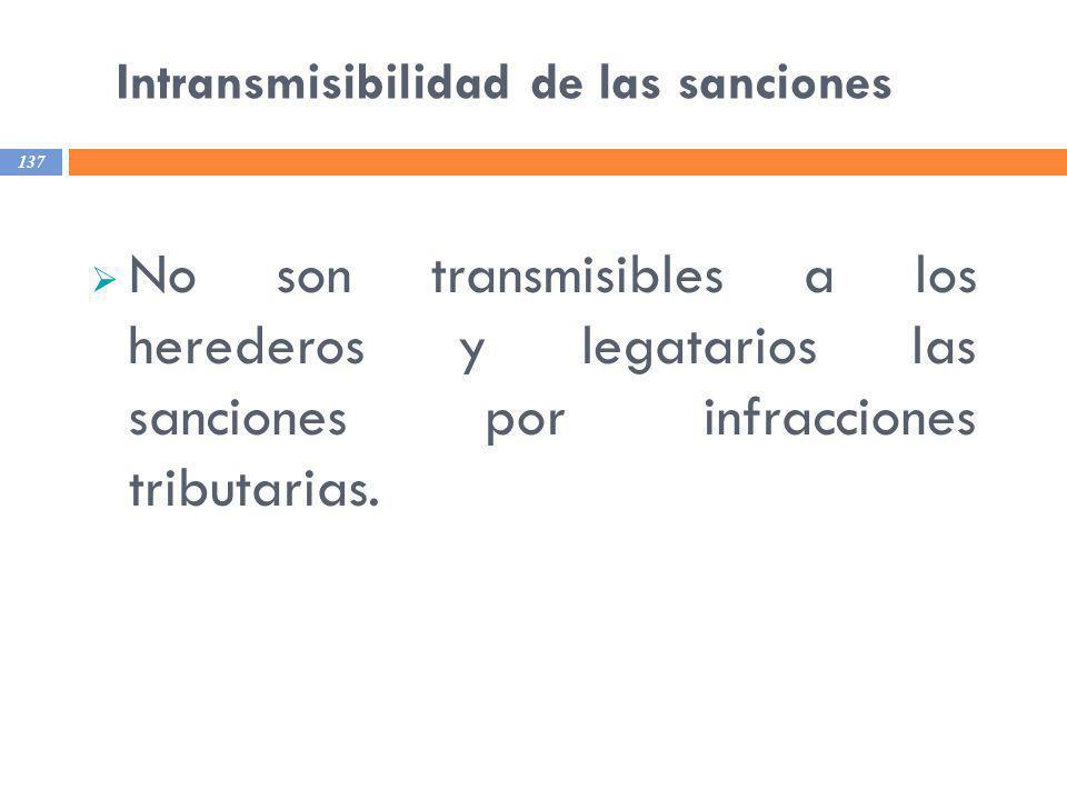 Intransmisibilidad de las sanciones