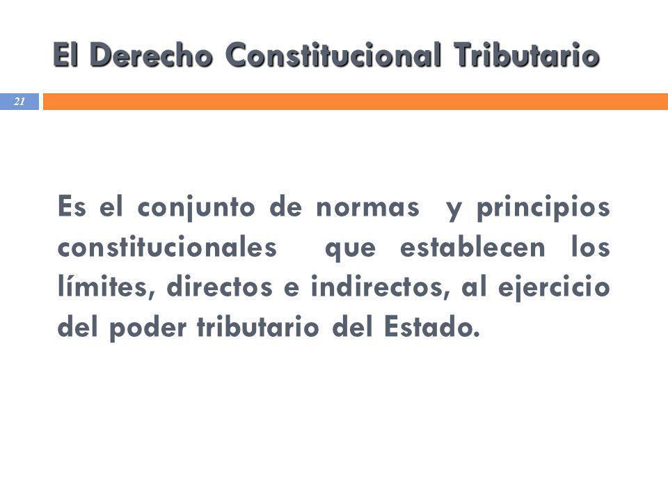 El Derecho Constitucional Tributario