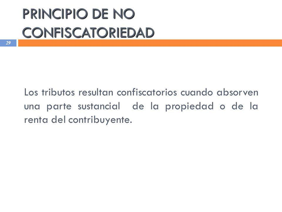 PRINCIPIO DE NO CONFISCATORIEDAD