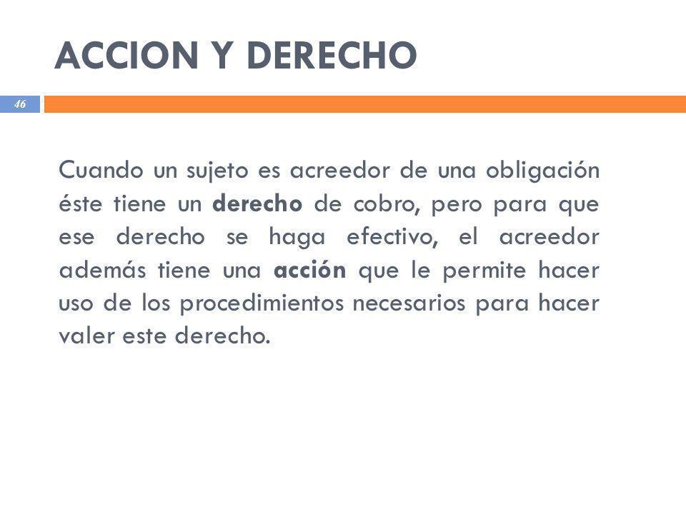 ACCION Y DERECHO