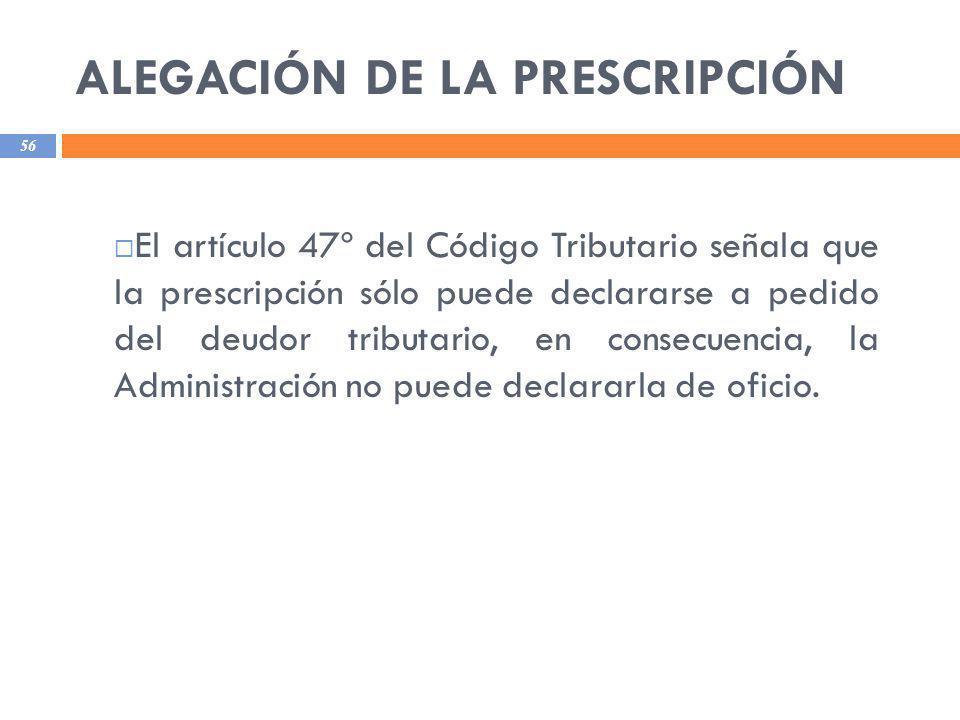 ALEGACIÓN DE LA PRESCRIPCIÓN