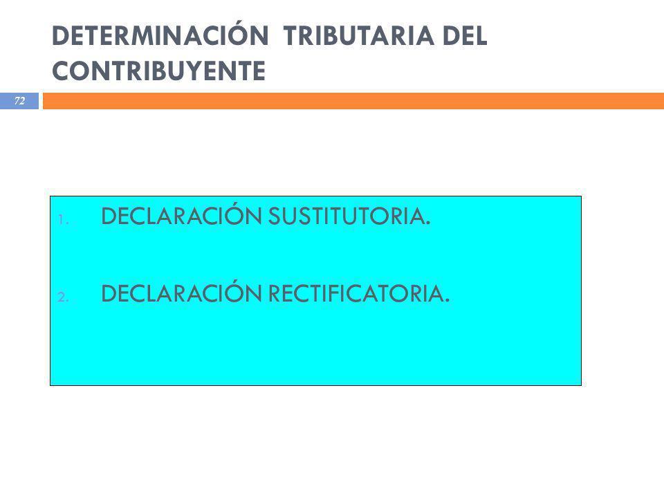 DETERMINACIÓN TRIBUTARIA DEL CONTRIBUYENTE