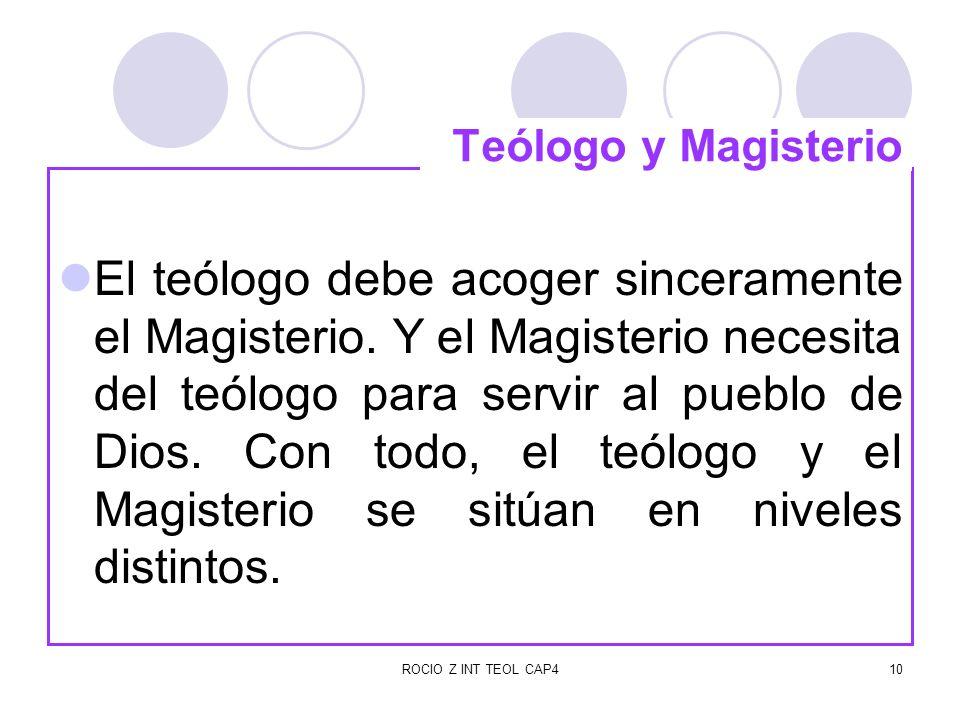 Teólogo y Magisterio