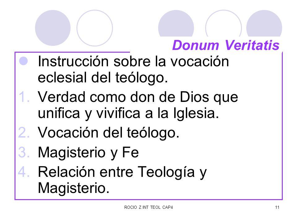 Instrucción sobre la vocación eclesial del teólogo.