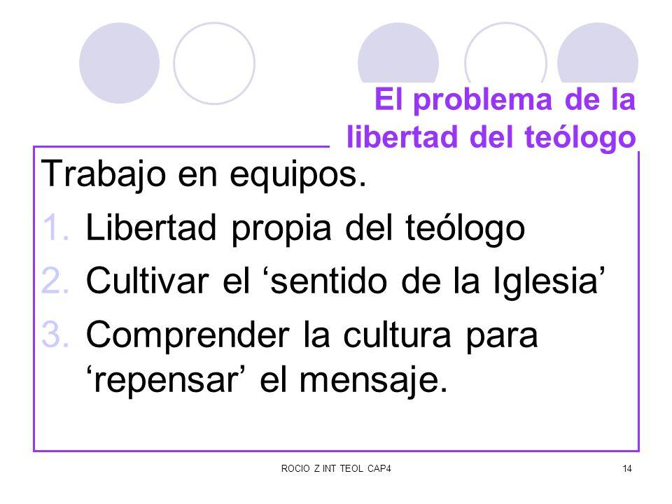 El problema de la libertad del teólogo