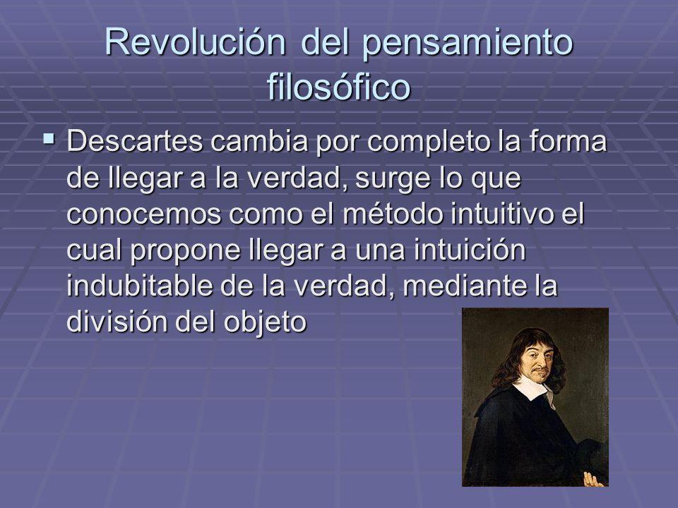 Revolución del pensamiento filosófico