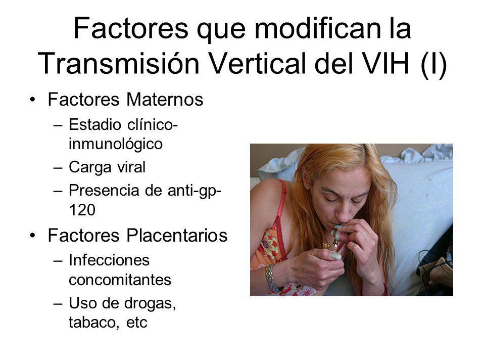 Factores que modifican la Transmisión Vertical del VIH (I)