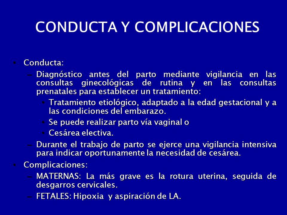 CONDUCTA Y COMPLICACIONES