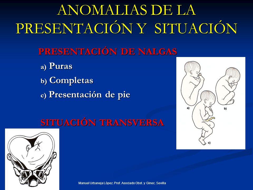 ANOMALIAS DE LA PRESENTACIÓN Y SITUACIÓN
