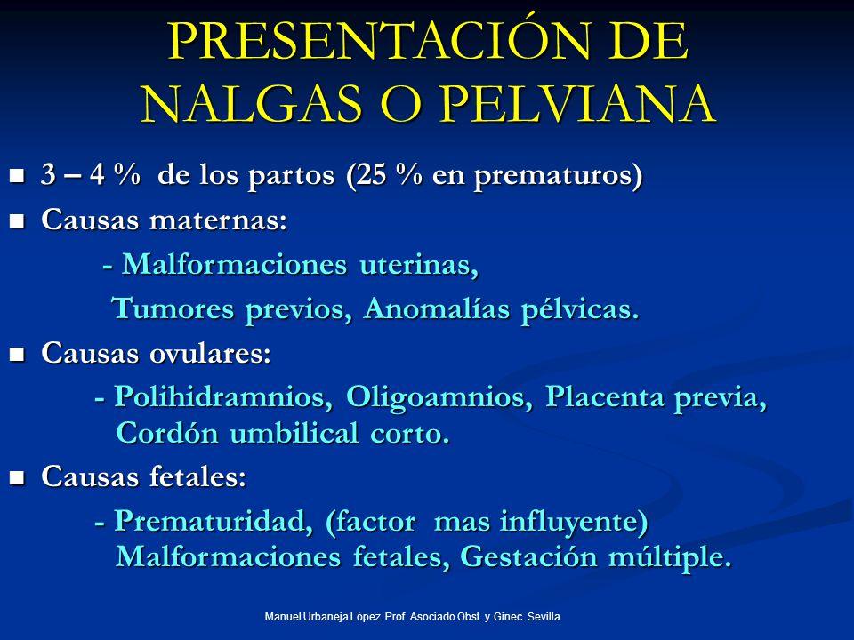 PRESENTACIÓN DE NALGAS O PELVIANA