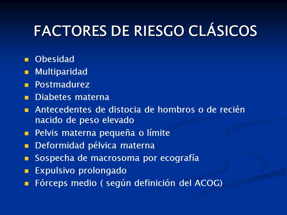 FACTORES DE RIESGO CLÁSICOS