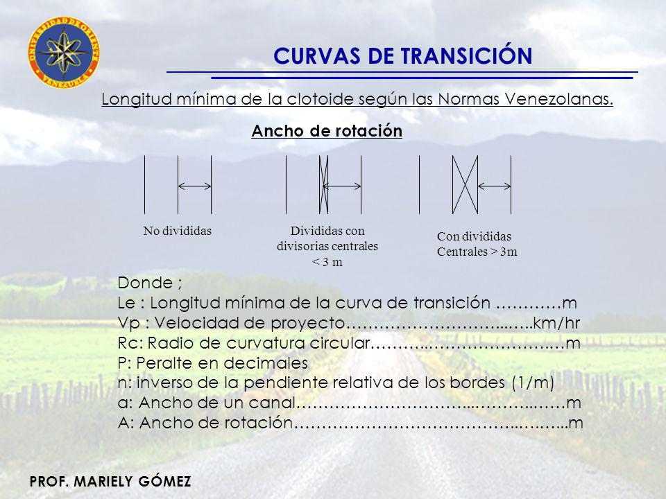 Divididas con divisorias centrales < 3 m