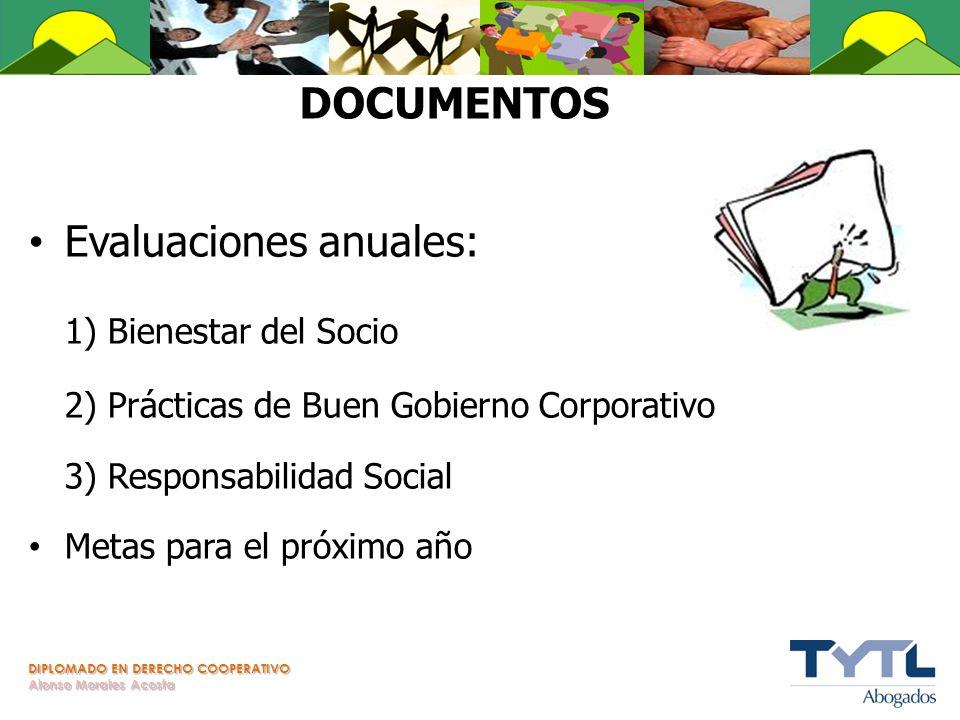 Evaluaciones anuales: 1) Bienestar del Socio