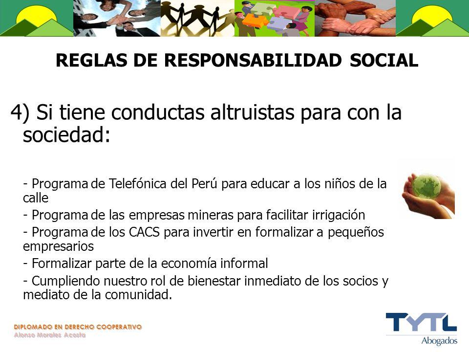 REGLAS DE RESPONSABILIDAD SOCIAL