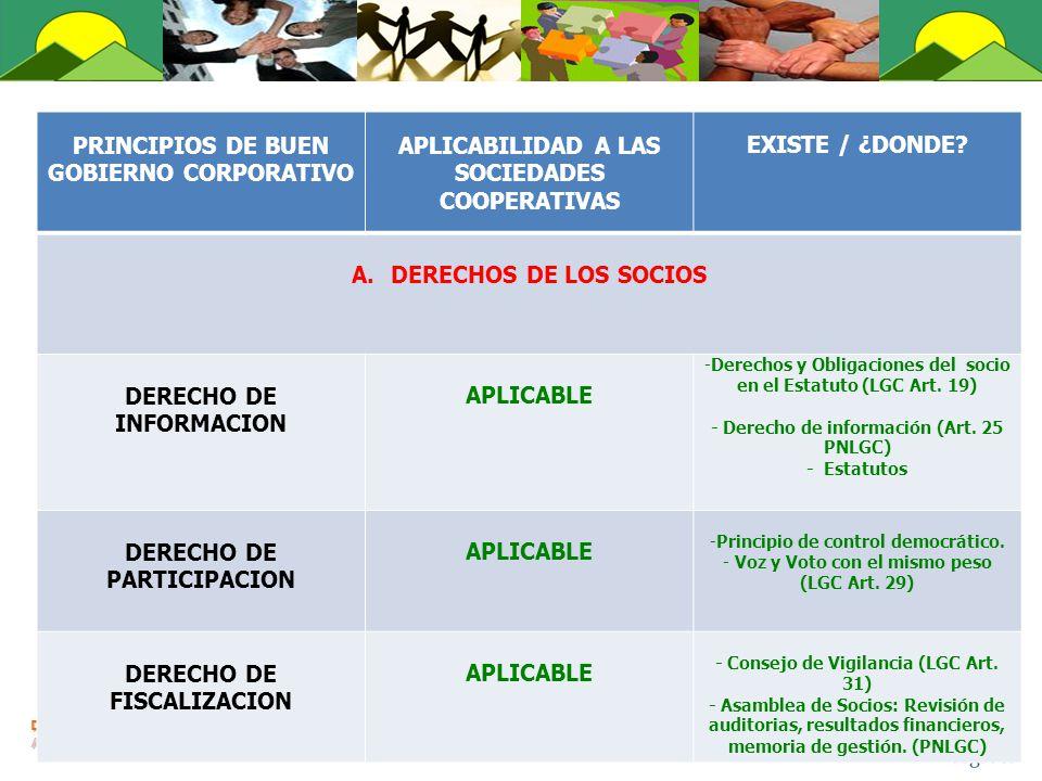 DERECHO DE INFORMACION APLICABLE
