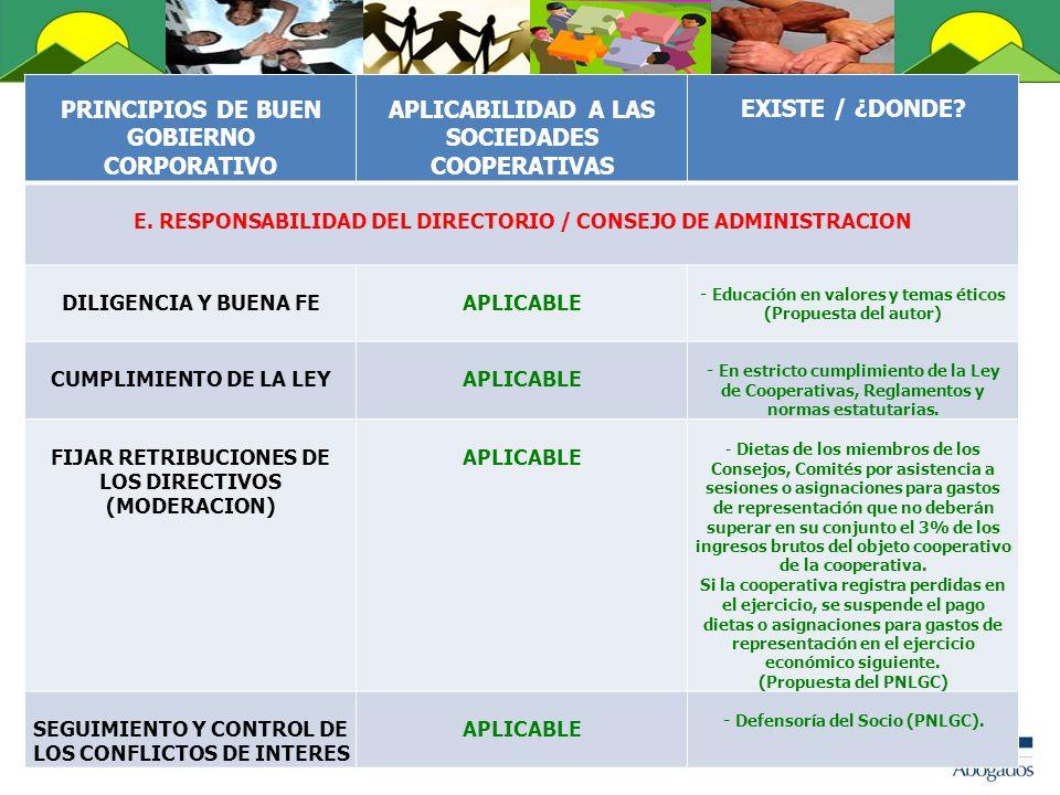 PRINCIPIOS DE BUEN GOBIERNO CORPORATIVO