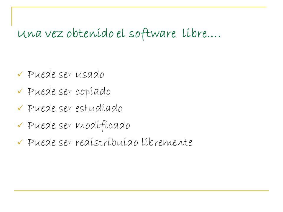 Una vez obtenido el software libre….