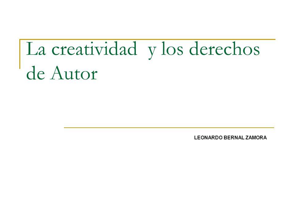 La creatividad y los derechos de Autor