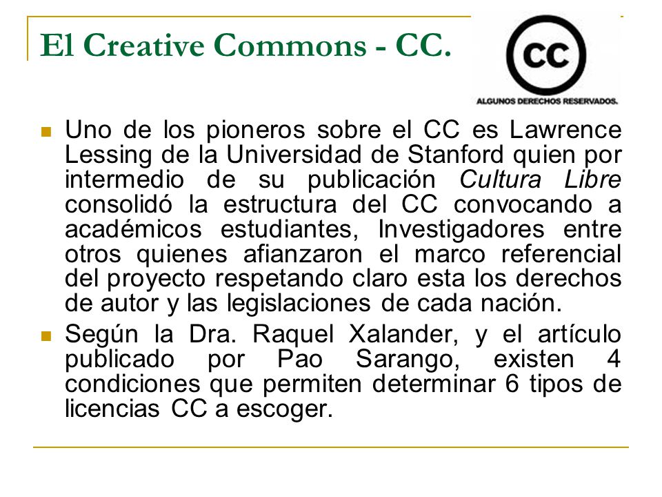 El Creative Commons - CC.