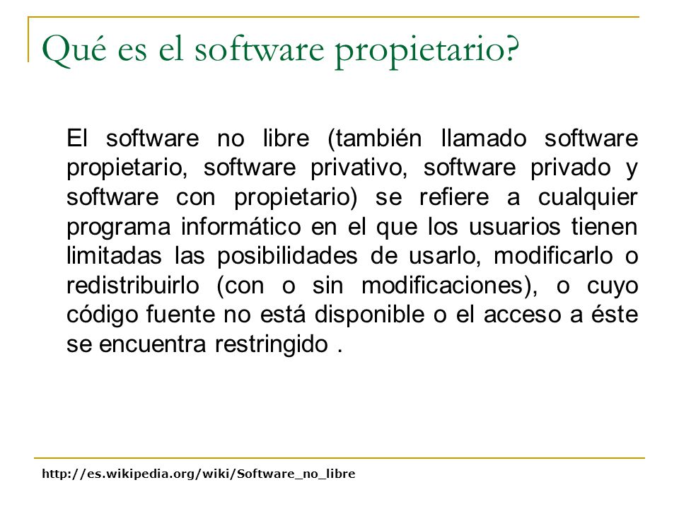 Qué es el software propietario