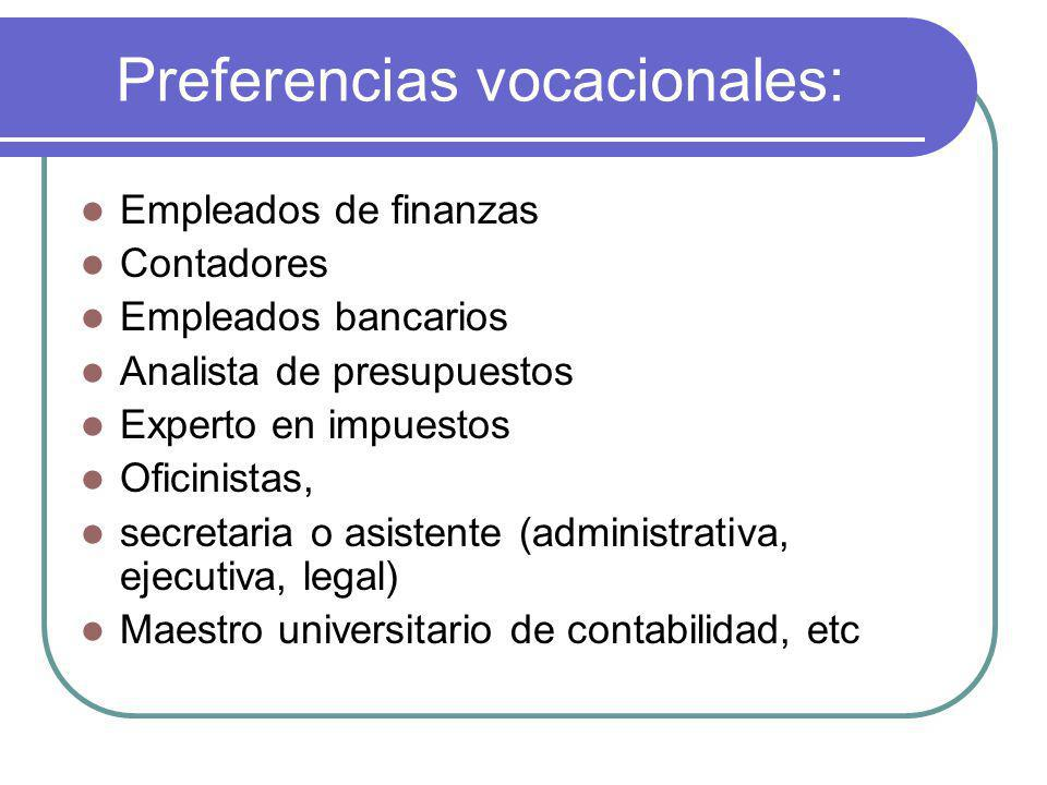 Preferencias vocacionales: