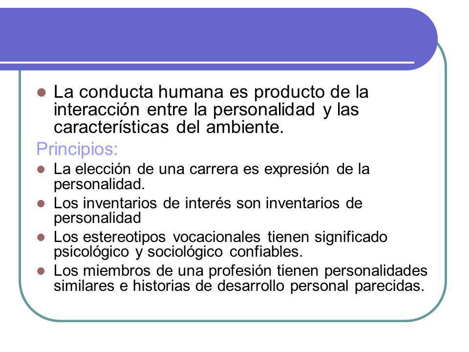 La conducta humana es producto de la interacción entre la personalidad y las características del ambiente.