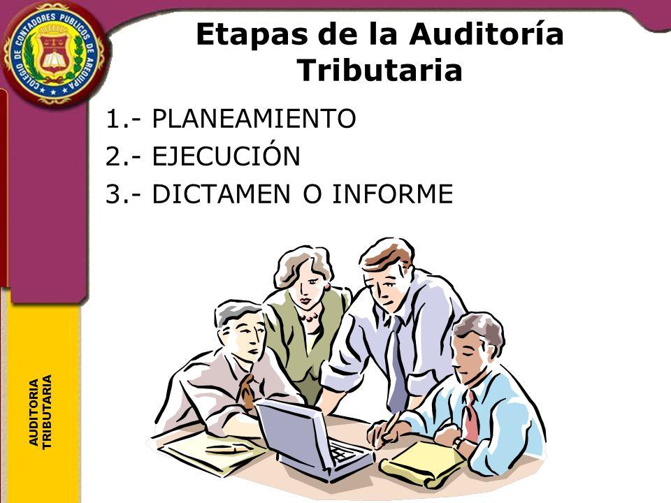 Etapas de la Auditoría Tributaria