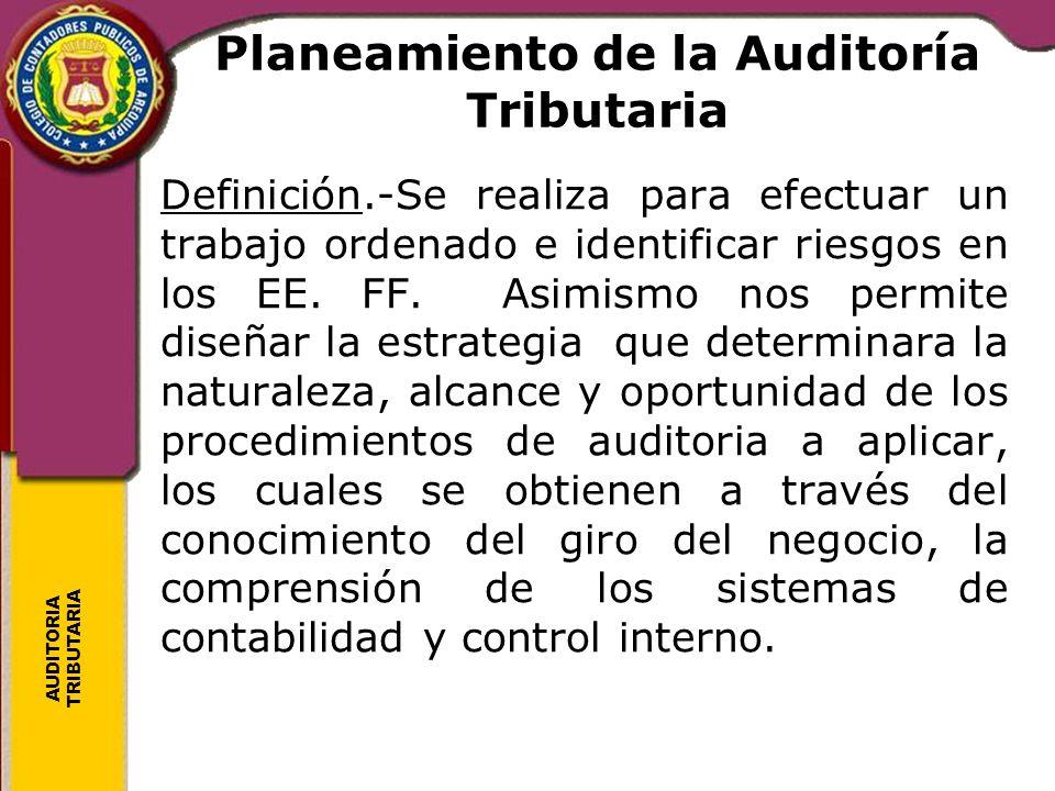 Planeamiento de la Auditoría Tributaria