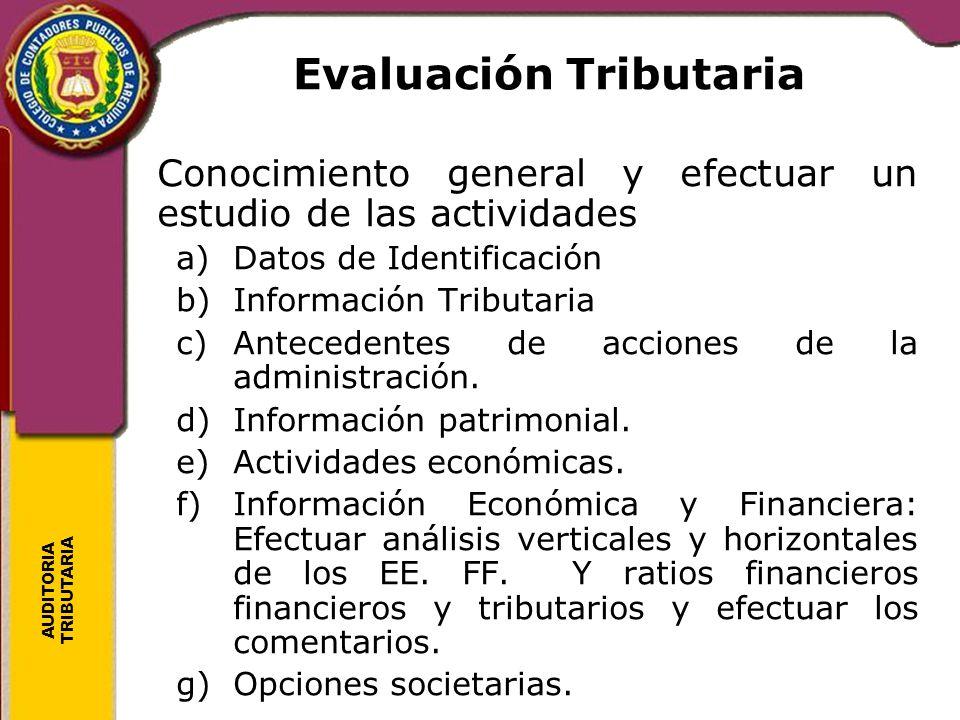 Evaluación Tributaria