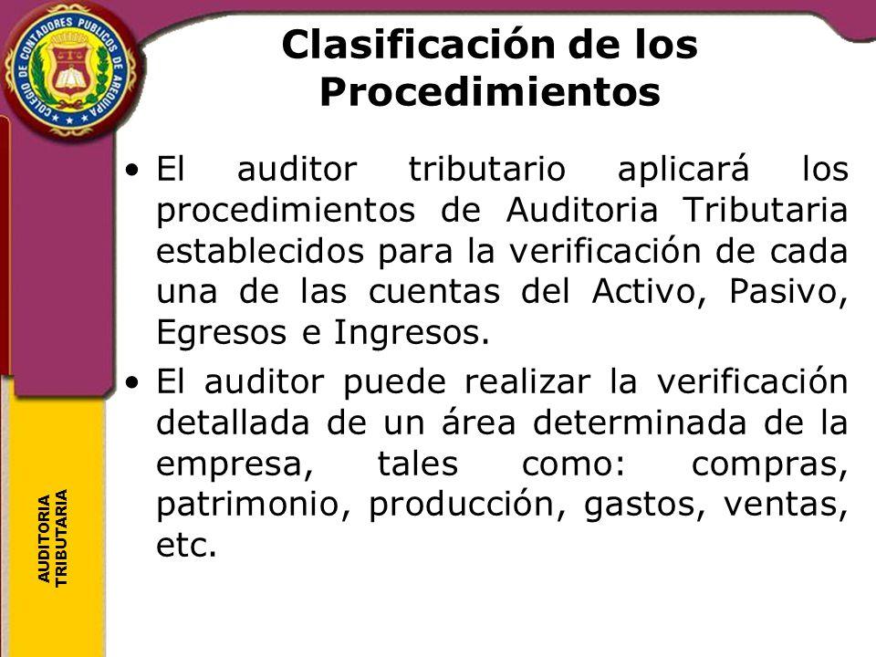 Clasificación de los Procedimientos