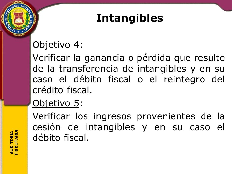 Intangibles Objetivo 4: