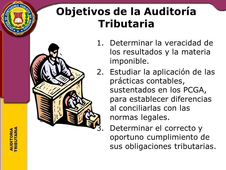 Objetivos de la Auditoría Tributaria
