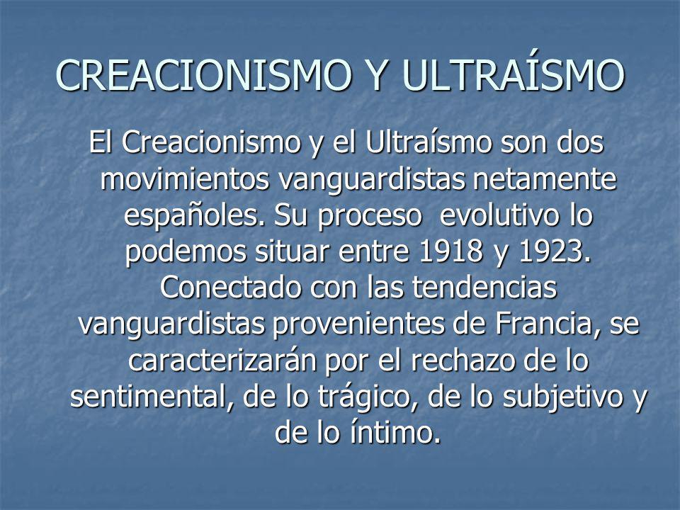 CREACIONISMO Y ULTRAÍSMO