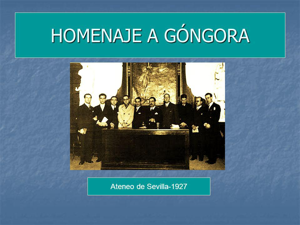 HOMENAJE A GÓNGORA Ateneo de Sevilla-1927