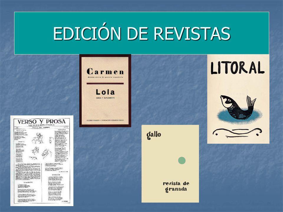 EDICIÓN DE REVISTAS