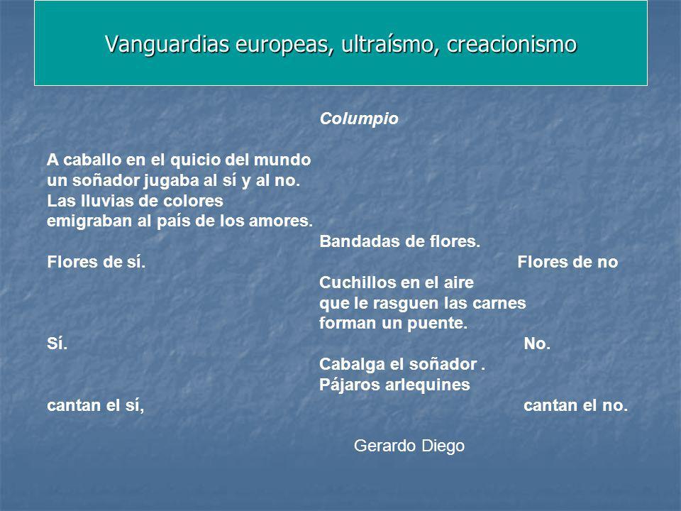 Vanguardias europeas, ultraísmo, creacionismo
