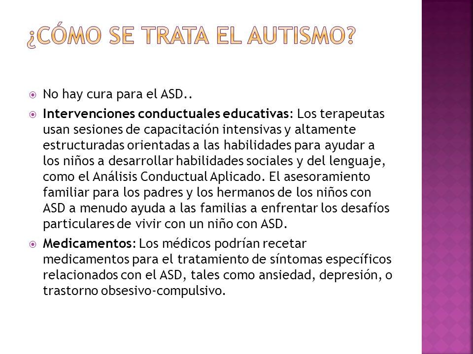 ¿Cómo se trata el autismo