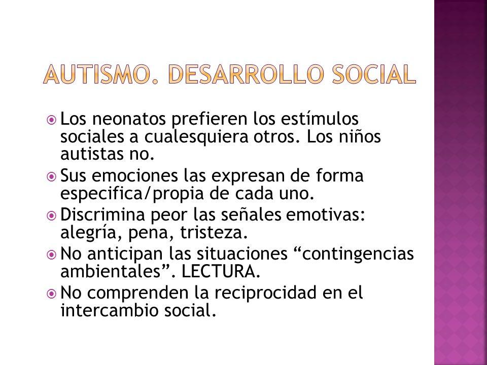 AUTISMO. DESARROLLO SOCIAL