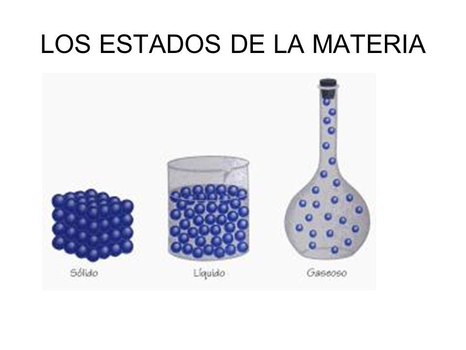 LOS ESTADOS DE LA MATERIA