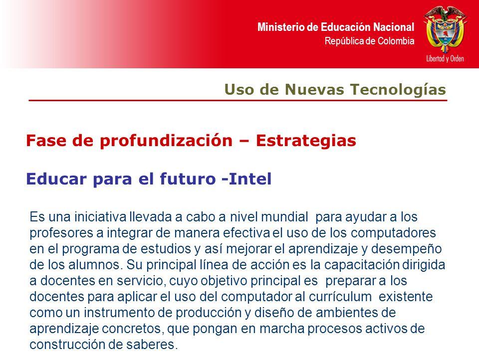 Fase de profundización – Estrategias Educar para el futuro -Intel