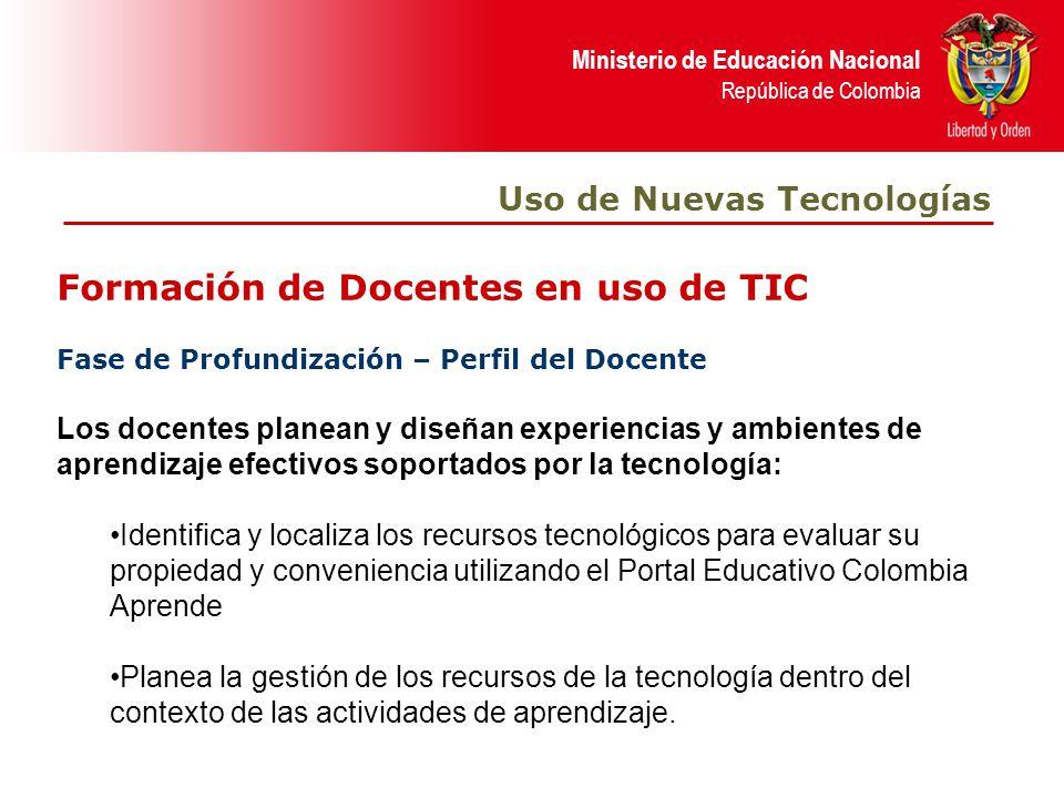 Formación de Docentes en uso de TIC