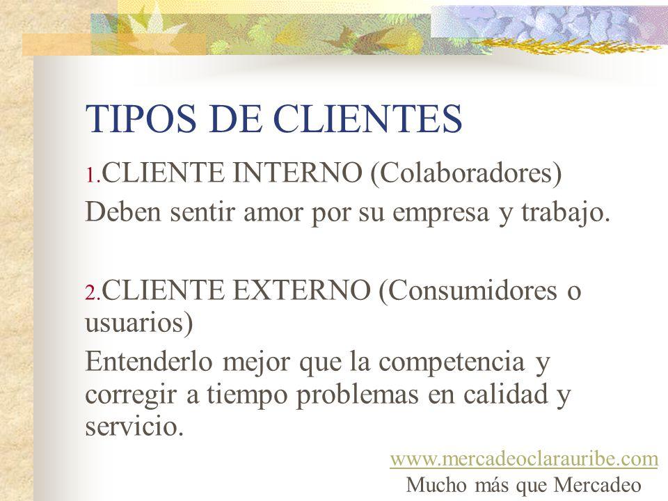 TIPOS DE CLIENTES CLIENTE INTERNO (Colaboradores)