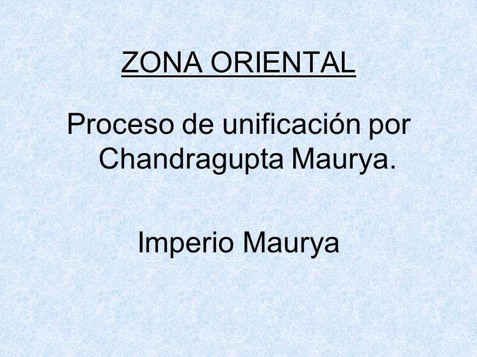 Proceso de unificación por Chandragupta Maurya.