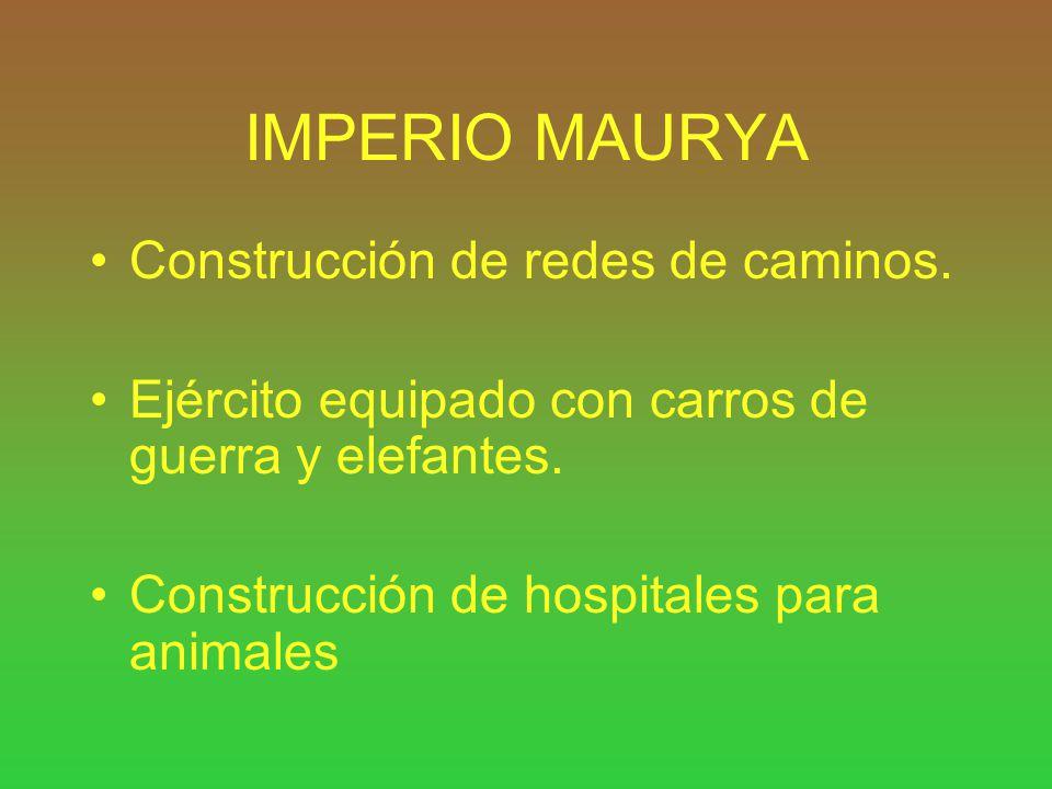 IMPERIO MAURYA Construcción de redes de caminos.