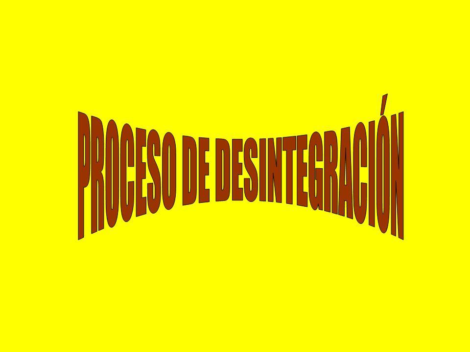 PROCESO DE DESINTEGRACIÓN