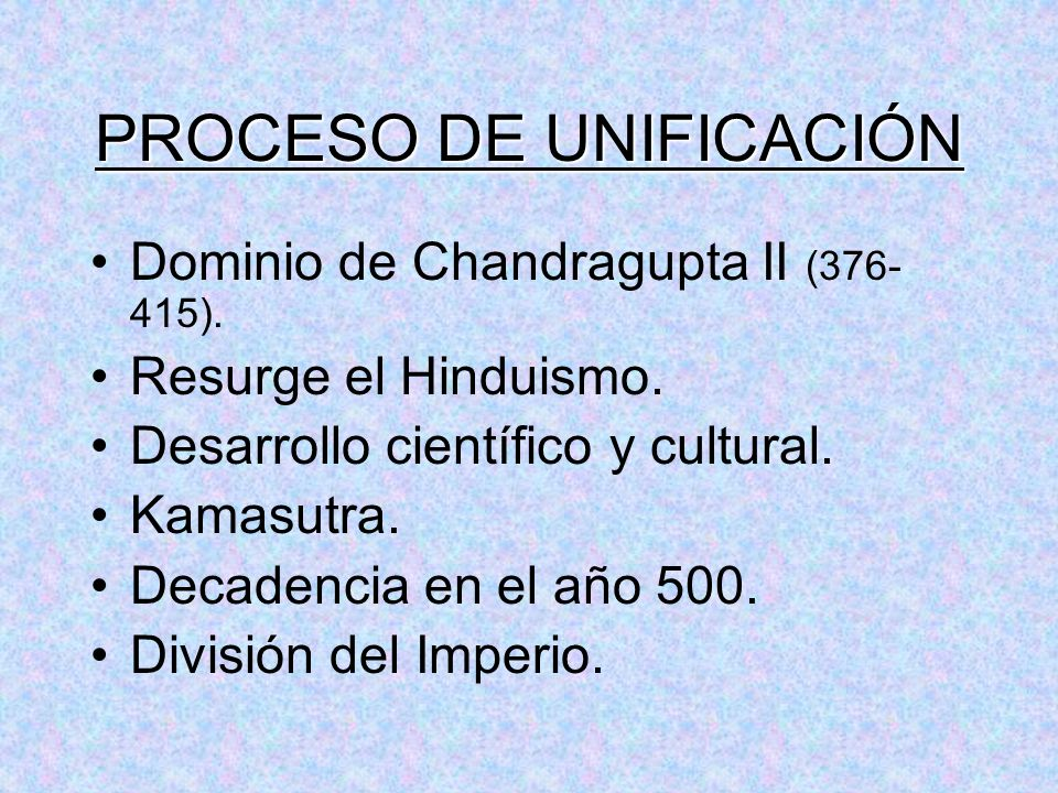 PROCESO DE UNIFICACIÓN