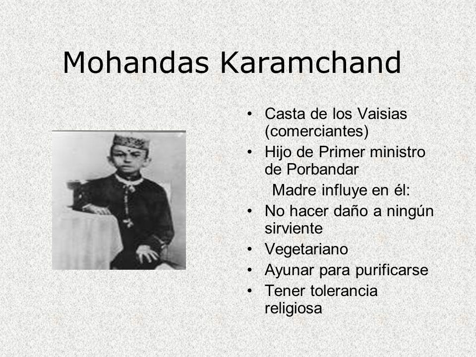 Mohandas Karamchand Casta de los Vaisias (comerciantes)