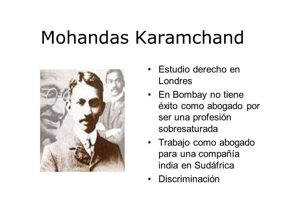 Mohandas Karamchand Estudio derecho en Londres
