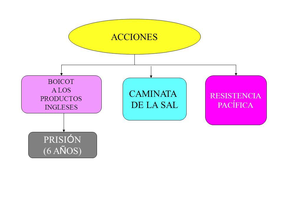 ACCIONES CAMINATA DE LA SAL PRISIÓN (6 AÑOS) RESISTENCIA PACÍFICA