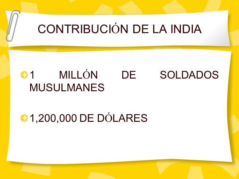 CONTRIBUCIÓN DE LA INDIA
